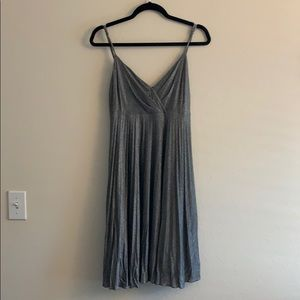 Silver Sparkly Flirty Max & Cleo Swing Dress